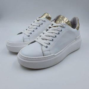 Meline Donna Sneaker Bassa Sportiva Bianco Cocco Oro Non61i19 1