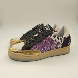 Meline Donna Sneaker Glitter Bz184 1