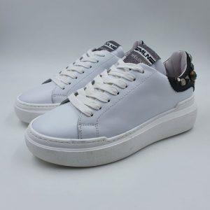 Meline Sneaker Bassa Sportiva Bianco Borchie Non002i19 1
