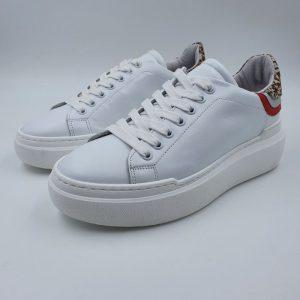 Meline Sneaker Bassa Sportiva Bianco Cavallino Non1601e20 1