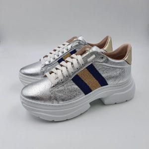 Stokton Donna Sneaker Argento 758 1