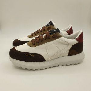 Stokton Uomo Sneaker Bianco Vintage 1