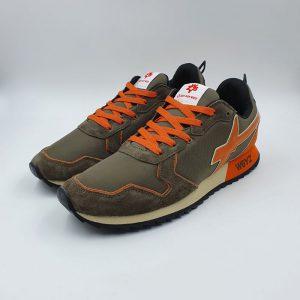 W6yz Uomo Sneaker Bassa Sportiva Verde.arancio 1f18 1